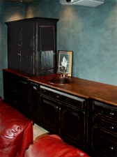 Back Bar @ Home Theater in Black