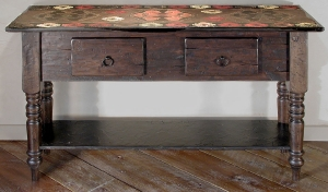 Kilim Sideboard with decorated top